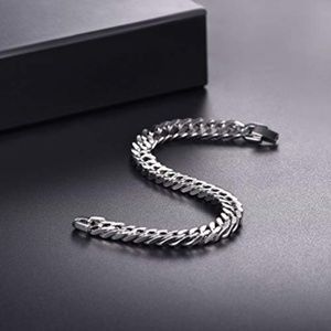 Other - Stainless Steel Curb Chain Bracelet